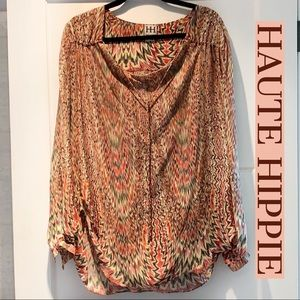 Haute Hippie 100% Silk Blouse